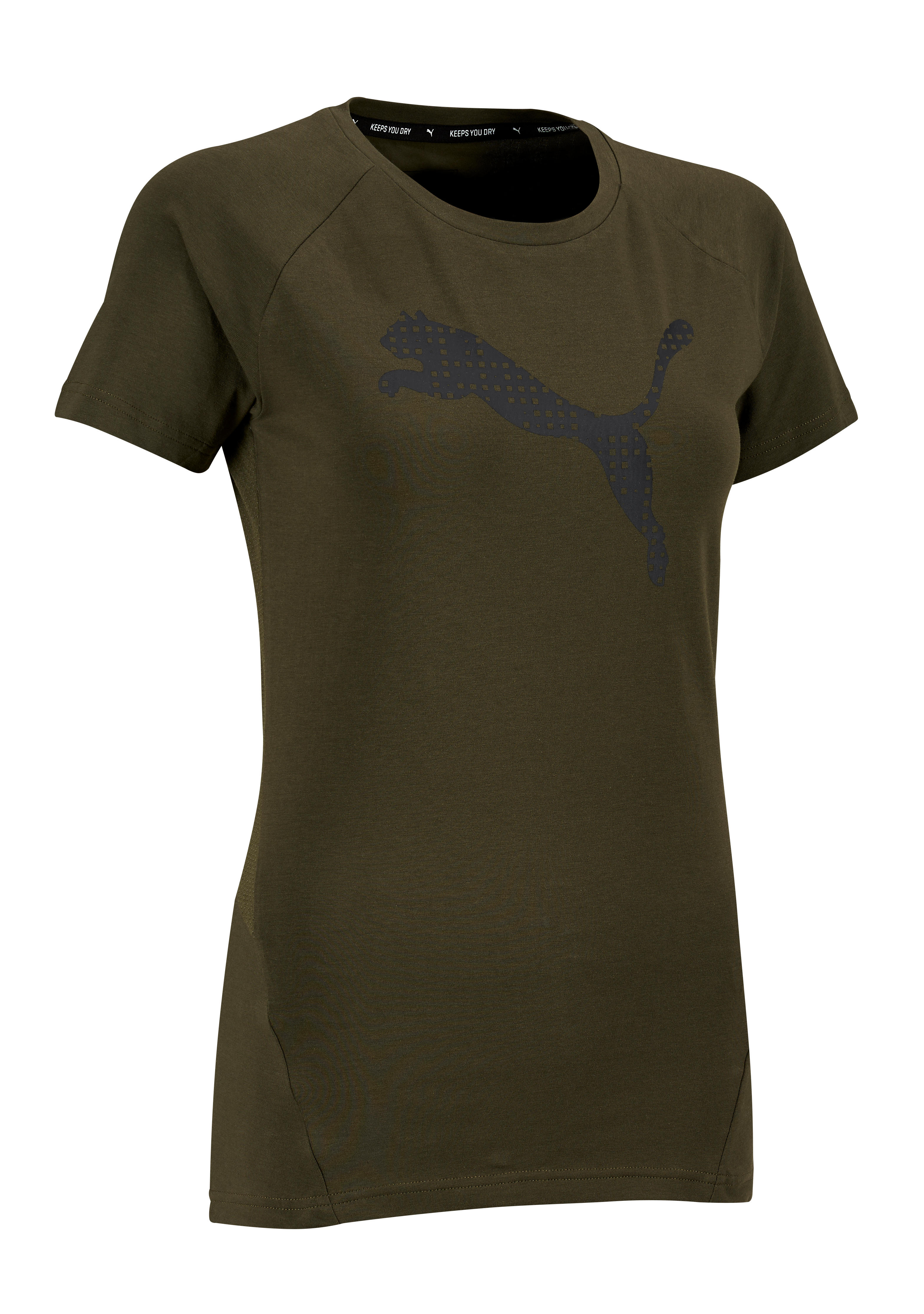 Gym Femme Shirt Puma T 100 Kaki Stretching PXZuOki