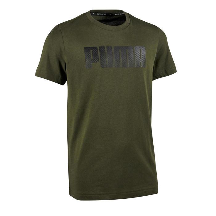 Camiseta de Manga Corta Gimnasia Puma Niño Caqui Estampado Puma ... 5a99d36255cd0