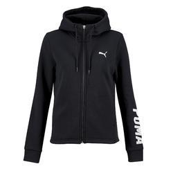 Sweatshirtkapuzenjacke 100 Gym Stretching Damen schwarz
