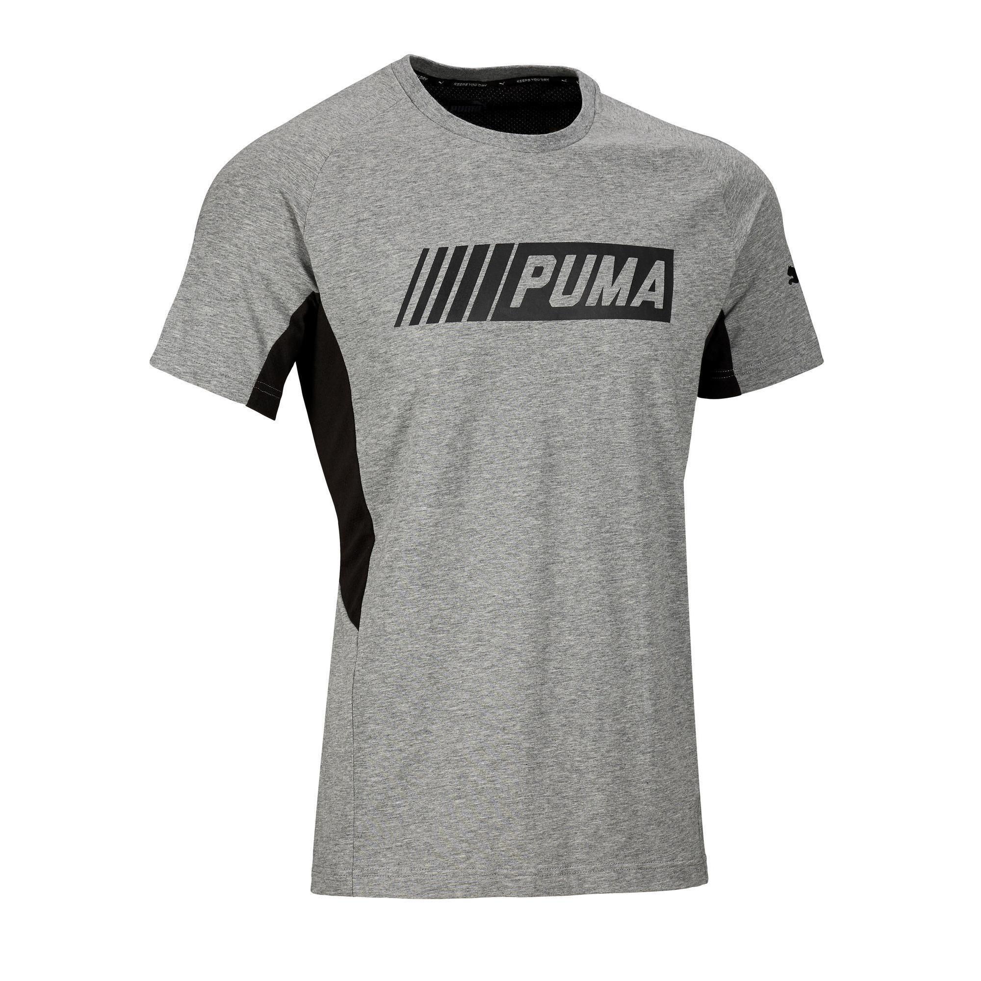 86963be8115 Puma Heren T shirt Active 2 Puma 100 voor gym en stretching grijs