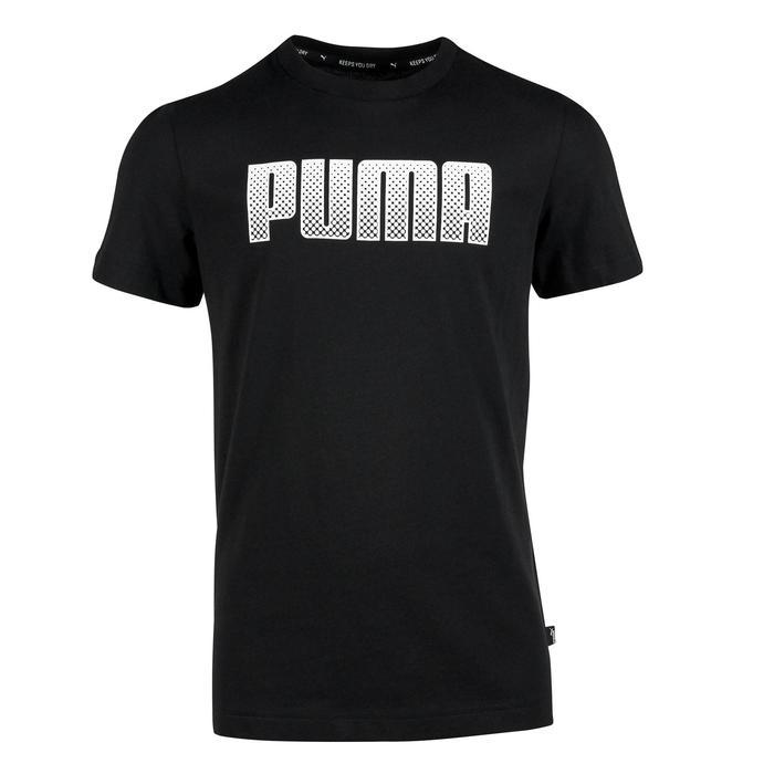T-Shirt manches courtes Gym garçon noir imprimé