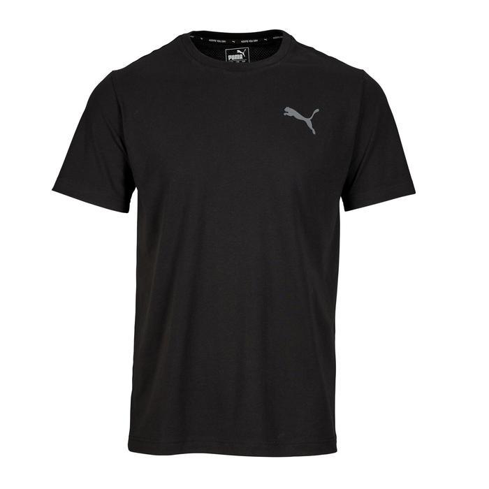 T-Shirt Active 100 Gym Stretching Herren schwarz