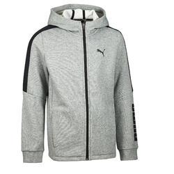 Veste capuche Gym garçon gris