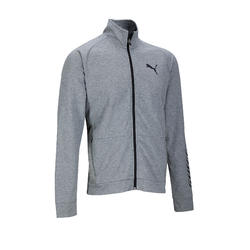 Trainingsjacke 100 Gym Stretching Herren grau