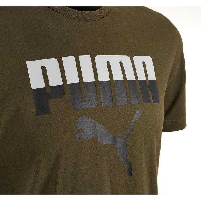 T-shirt Logo Puma 100 Gym Stretching homme kaki