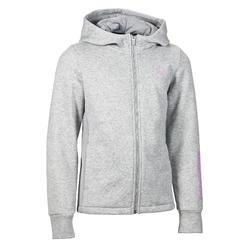 Veste capuche Gym fille gris