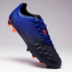Botas de fútbol adulto terrenos secos Agility 700 FG azul oscuro naranja