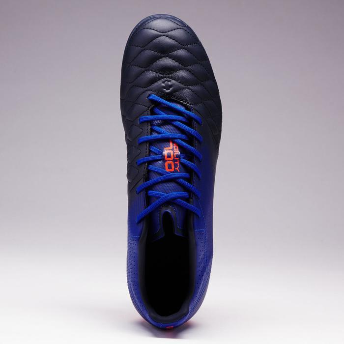 Chaussure de football adulte terrains secs Agility 900 FG noire grise - 1353327