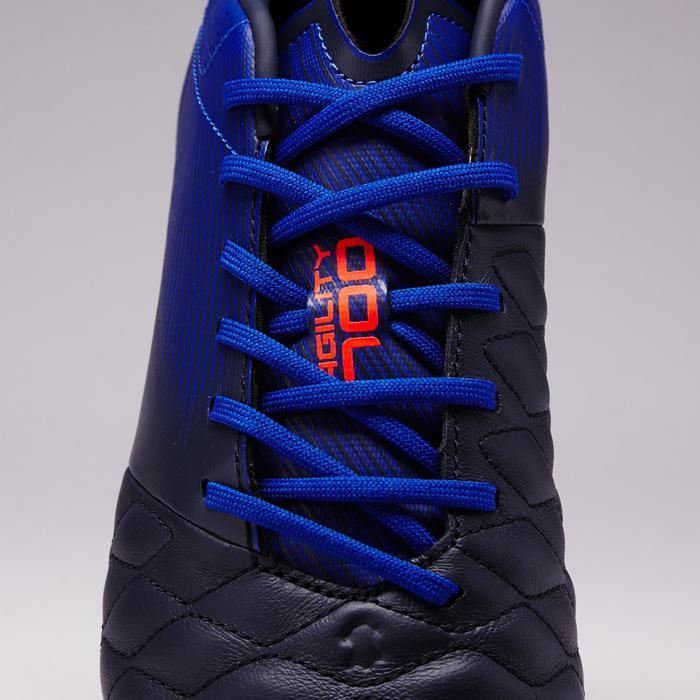 Chaussure de football adulte terrain sec Agility 700 FG bleue foncée orange
