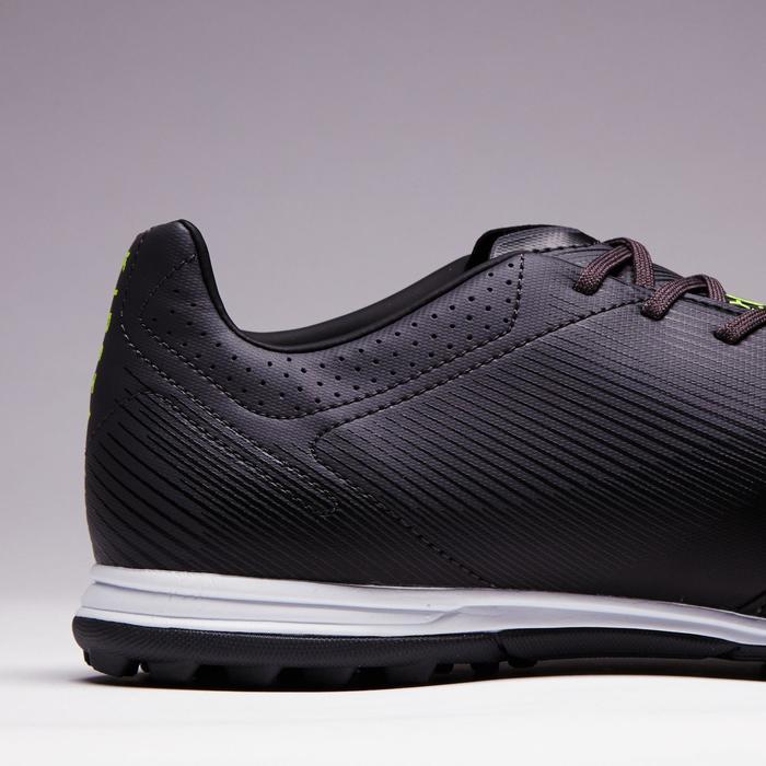 Chaussure de football adulte terrain dur Agility 700 cuir HG noire