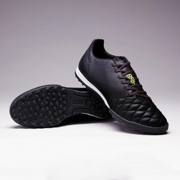Botas de Fútbol adulto Kipsta Agility 700 piel HG turf negro