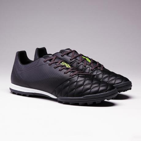 f0d1d23af6 Chaussure de football adulte terrain dur Agility 540 cuir HG noire.  Previous. Next