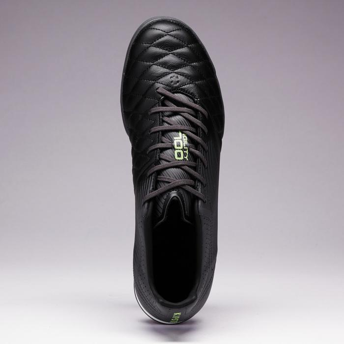 Fußballschuhe Multinocken Agility 700 HG Hartböden Leder Erwachsene schwarz