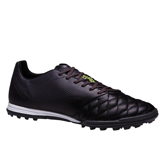 Chaussure de football adulte terrain dur Agility 540 cuir HG noire