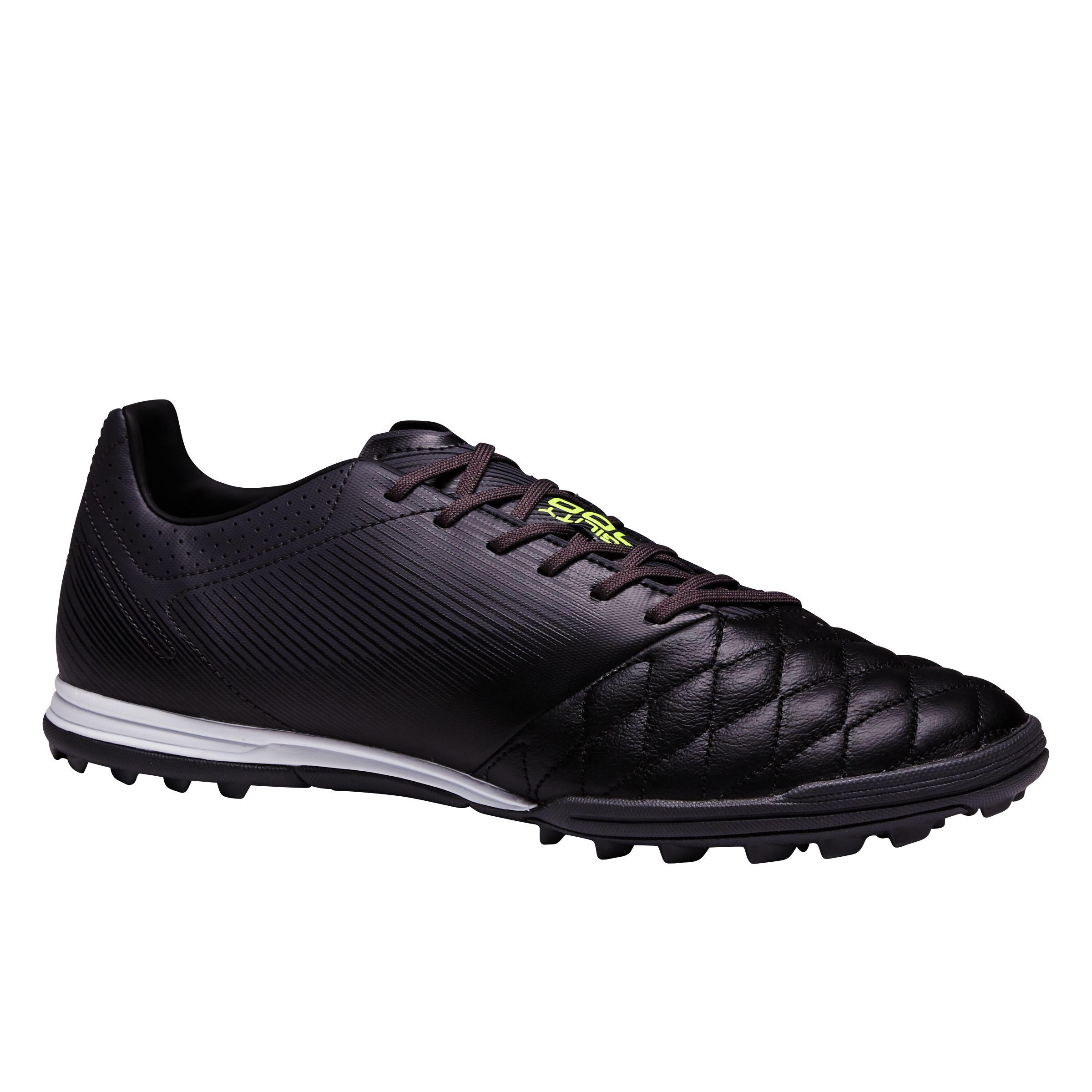 Fußballschuhe Nocken Agility 700 HG Hartböden Leder Erwachsene schwarz | Schuhe > Sportschuhe > Fußballschuhe | Schwarz | Kipsta