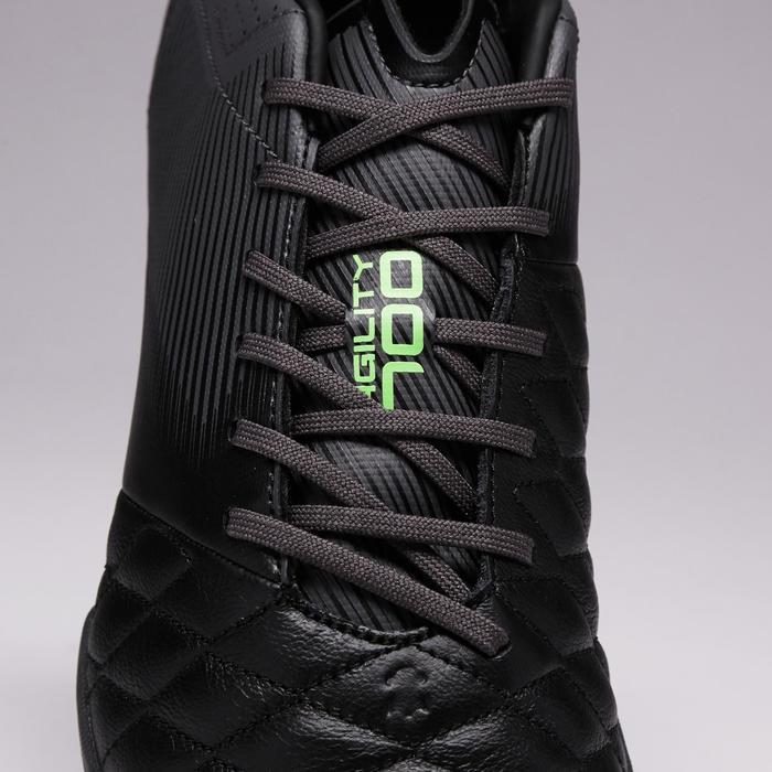 Chaussure de football adulte terrains durs Agility 700 HG noire grise - 1353398