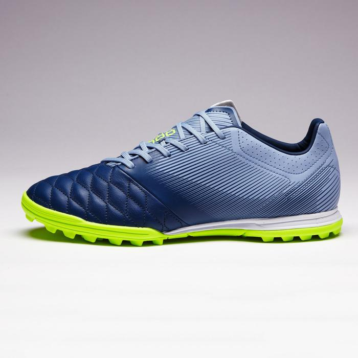 Chaussure de football adulte terrain dur Agility 540 cuir HG grise & bleue