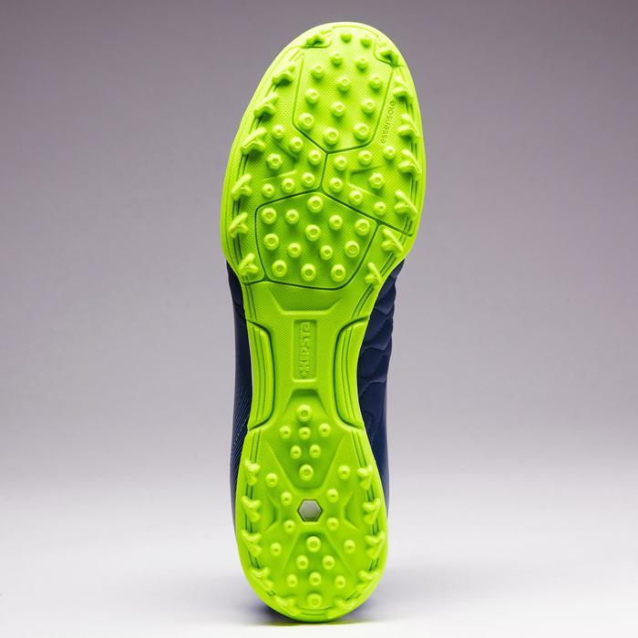 Fußballschuhe Multinocken Agility 700 HG Hartboden Leder Erwachsene grau/blau