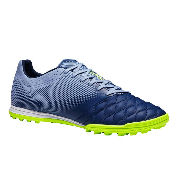 Fußballschuhe Nocken Agility 700 HG Hartboden Leder Erwachsene grau/blau