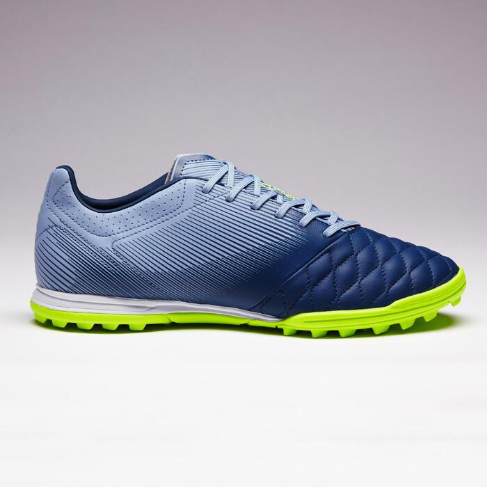 Botas de Fútbol adulto Kipsta Agility 700 piel HG turf gris y azul