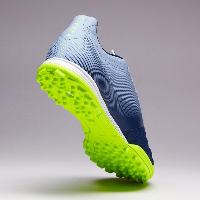 Chaussure de football adulte terrain dur Agility 700 HG bleue jaune