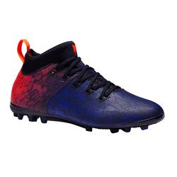 Agility 900 AG Kids' Dry Pitches Football Boots - Blue/Red