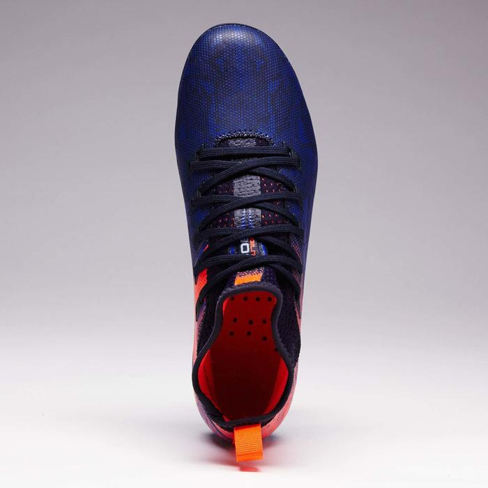 Fußballschuhe Nocken Agility 900 FG Trockenboden Kinder blau/rot