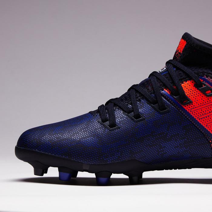 Chaussure de football enfant terrain sec Agility 900 FG bleu rouge