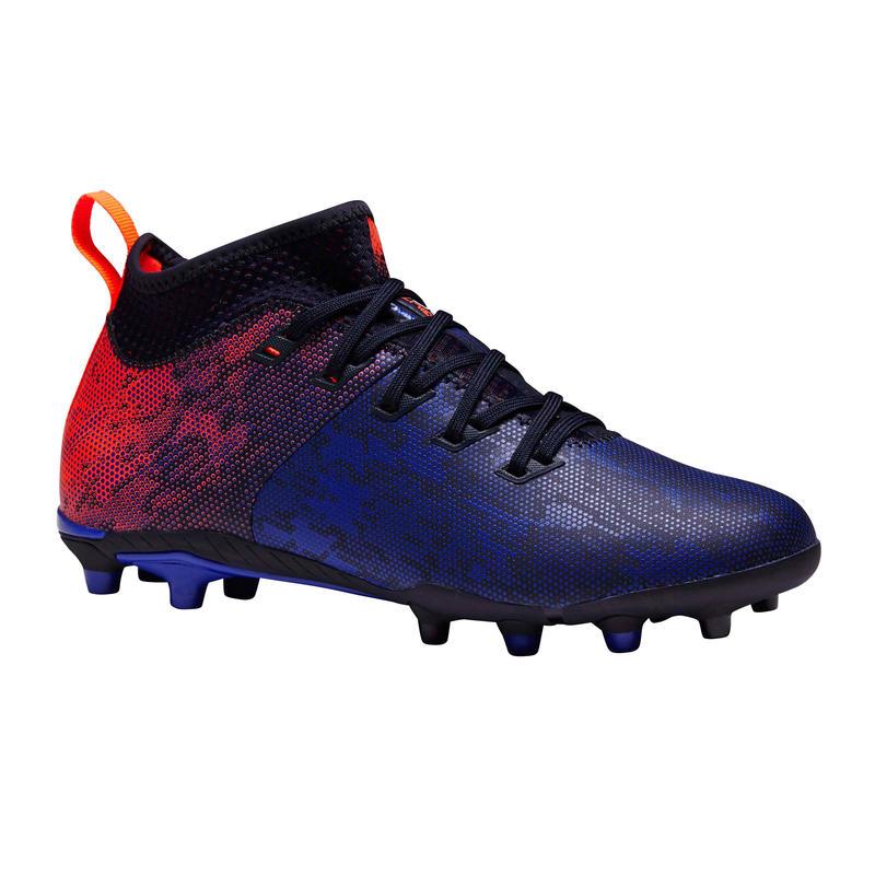 Tenis de fútbol para niños. Terrenos secos. Agility 900 FG azul y rojo
