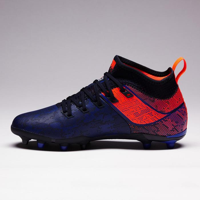 Voetbalschoenen kind Agility 900 MID FG blauw/oranje