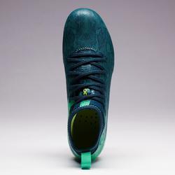 Fußballschuhe Nocken Agility 900 FG Trockenboden Kinder blau/grün
