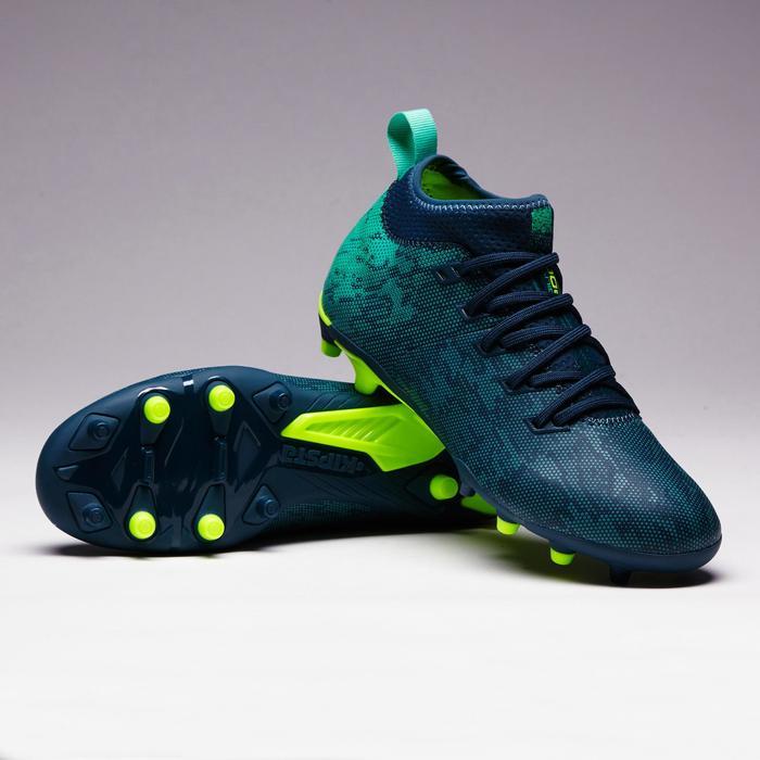 Chaussure de football enfant terrain sec Agility 900 FG bleu vert