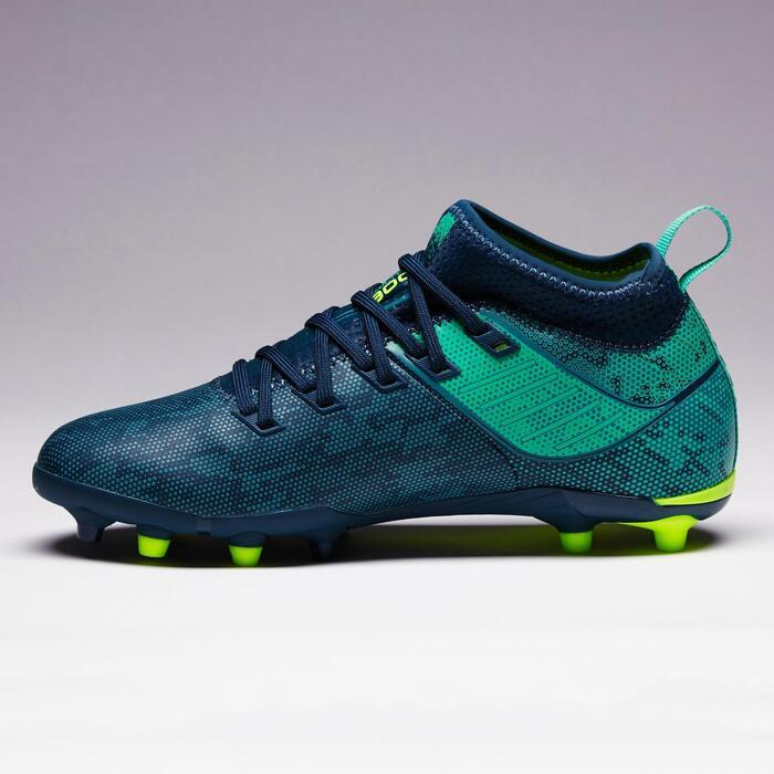 Voetbalschoenen voor kinderen Agility 900 FG voor droog terrein blauw groen