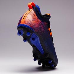 Botas fútbol adulto terrenos secos Agility 900 Mid FG azul naranja