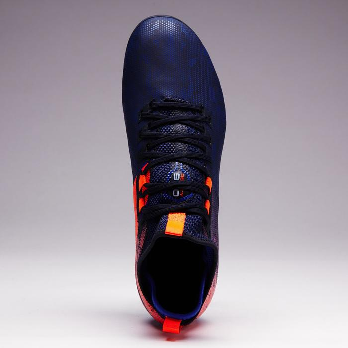 Chaussure de football adulte terrains secs Agility 900 Mid FG bleue orange