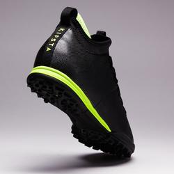 Botas de Fútbol adulto Kipsta Agility 900 HG turf negro y amarillo