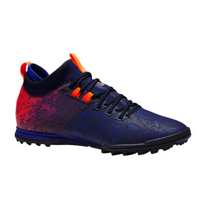 Chaussure de football adulte terrain dur Agility 900 HG bleue orange