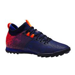 Chaussure de football adulte terrains durs Agility 900 HG bleue orange