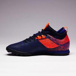 Chaussure de football adulte terrain dur Agility 900 HG bleue orange