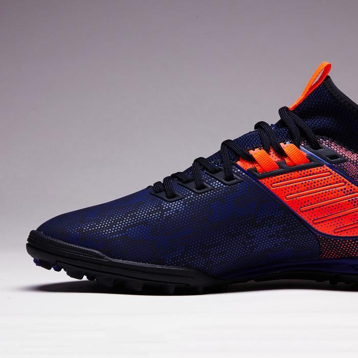 Botas de Fútbol adulto Kipsta Agility 900 HG turf azul y naranja
