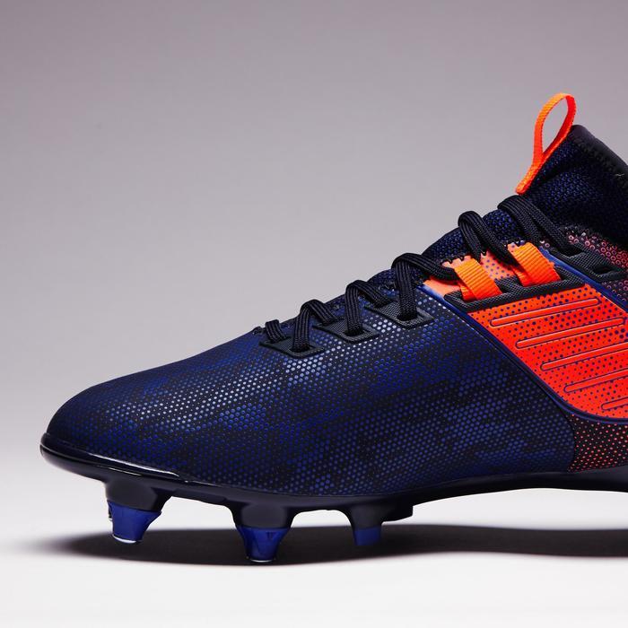 Fußballschuhe Stollen Agility 900 Mid SG Erwachsene blau/orange