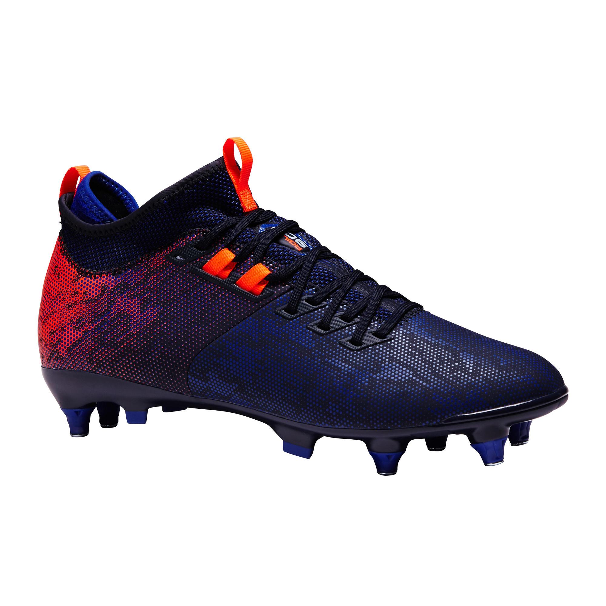 ebb1ca799 Chaussures - Chaussure de football adulte terrain gras Agility 900 MiD SG  bleue & orange