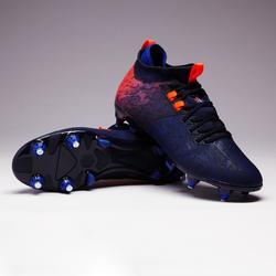 Chaussure de football adulte terrain gras Agility 900 MiD SG bleue & orange