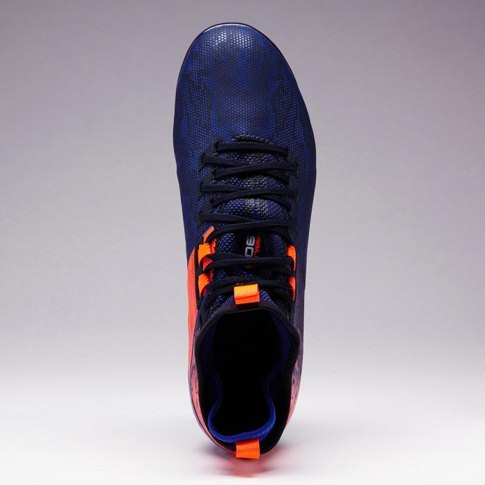 Botas fútbol para adulto terrenos resbaladizos Agility 900 MiD SG azul naranja