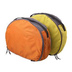 Lote de 2 fundas de guardado con forma de media luna para mochila de 50 a 70 L