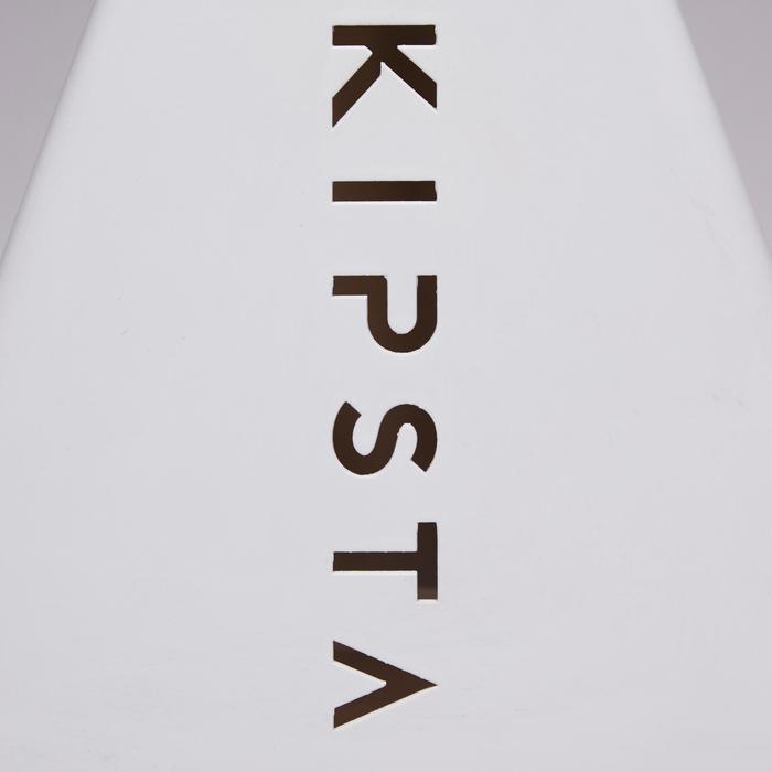 Lote de 6 conos Kipsta para entrenamiento fútbol Essential 15 cm gris
