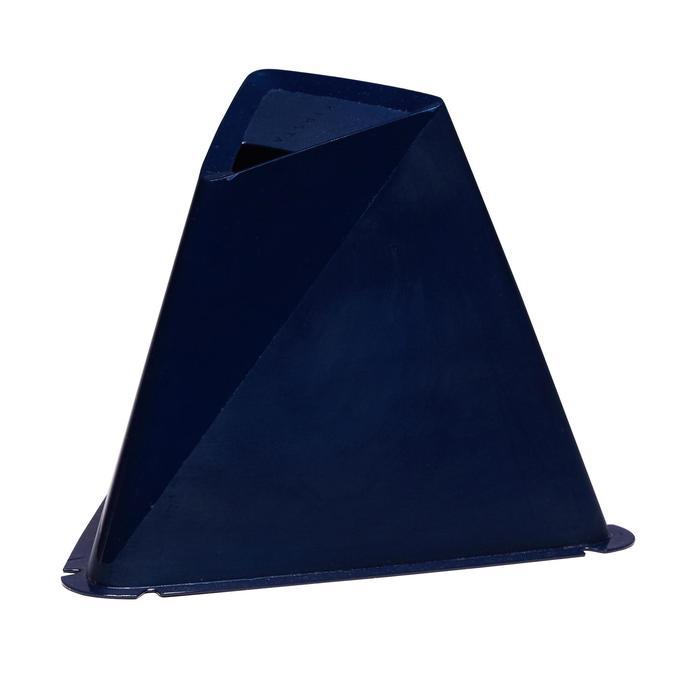 Lote de 6 conos Kipsta para entrenamiento fútbol Essential 15 cm azul marino