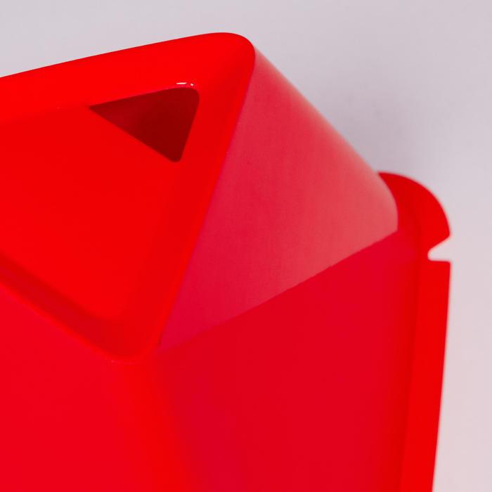 Pionnen Essential, set van 6, 15 cm hoog rood/oranje
