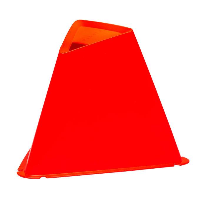 Set van 6 kegels voor voetbal Essential 15 cm oranje