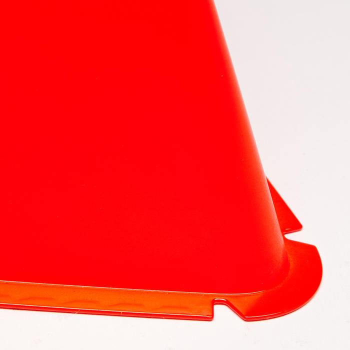 Lote de 6 conos Kipsta para entrenamiento fútbol Essential 15 cm naranja